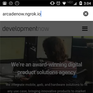 Inputting ArcadeNow URL