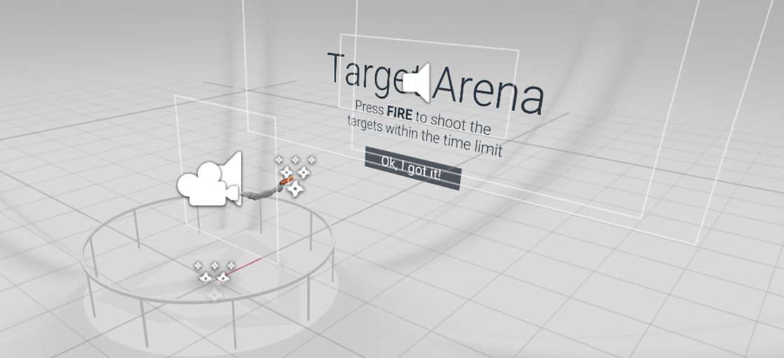 target arena before