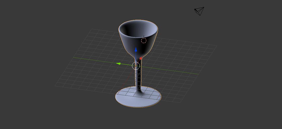 Blender 3D goblet